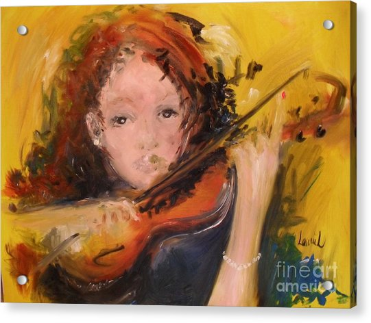 Acrylic Print featuring the painting Pearl by Laurie Lundquist