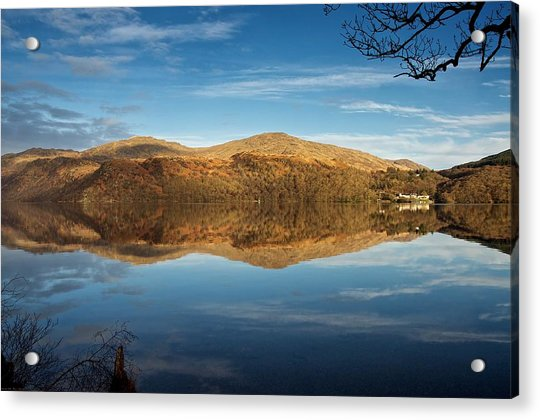 Reflections On Loch Lomond Acrylic Print