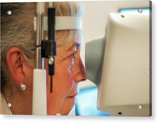 Retinal Scan Testing For Glaucoma Acrylic Print