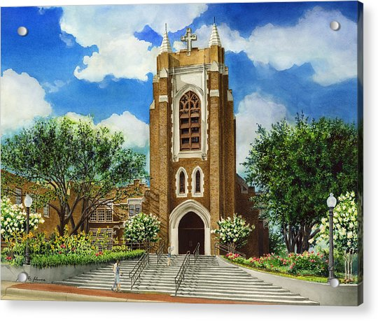 Saint Andrews Episcopal Church Bryan Texas Acrylic Print