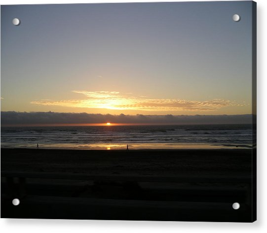 Acrylic Print featuring the photograph Sunset At Ocean Beach  by Cynthia Marcopulos