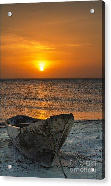 Sunset In Zanzibar - Kendwa Beach Acrylic Print by Pier Giorgio Mariani