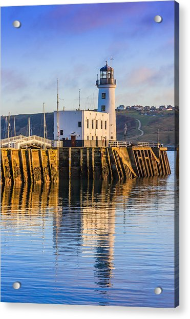 Sunset Over Scarborough Lighthouse Acrylic Print