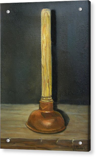 The Lone Plunger Acrylic Print