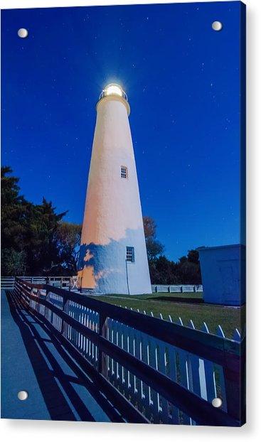 The Ocracoke Lighthouse On Ocracoke Island On The North Carolina Acrylic Print