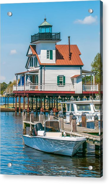 Town Of Edenton Roanoke River Lighthouse In Nc Acrylic Print