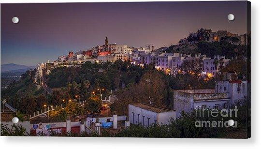 Vejer De La Frontera Panorama Cadiz Spain Acrylic Print
