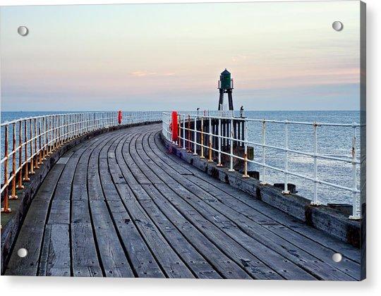 Whitby Pier Acrylic Print