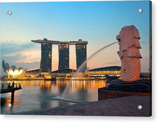 Singapore Skyline Acrylic Print by Songquan Deng