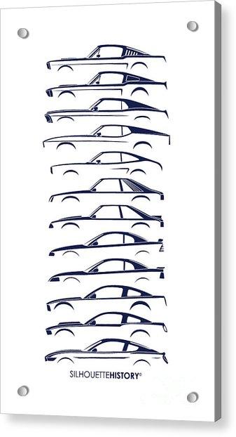 American Stallion Silhouettehistory Blue Acrylic Print