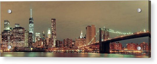 Manhattan Downtown Acrylic Print by Songquan Deng