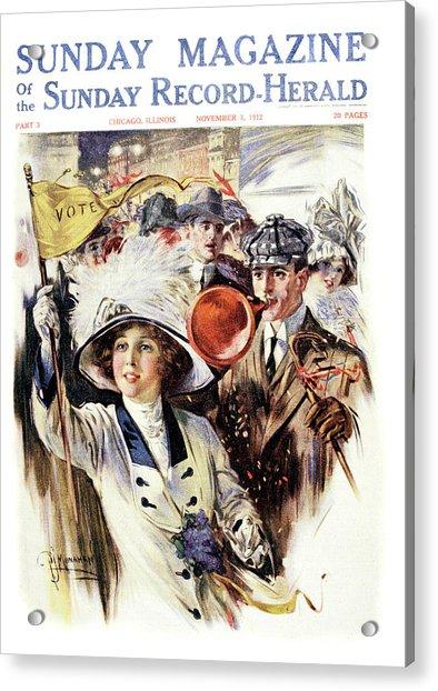1910s 1912 Cover Sunday Magazine Acrylic Print