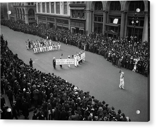 1910s Overhead View Of A Large Crowd Acrylic Print