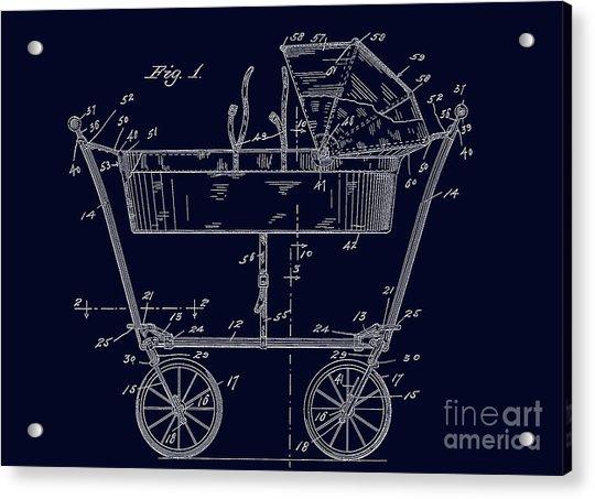 1922 Baby Carriage Patent Art Blueprint Acrylic Print