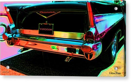 1957 Chevy Art Red Varooom Acrylic Print