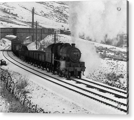 45593 Kholapur Hauling Winter Freight Acrylic Print
