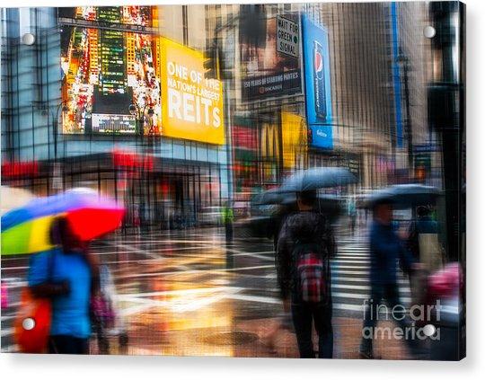 A Rainy Day In New York Acrylic Print