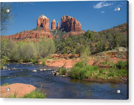 Cathedral Rock Viewed From Red Rock Crossing Acrylic Print