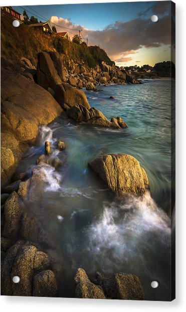 Chanteiro Beach Galicia Spain Acrylic Print