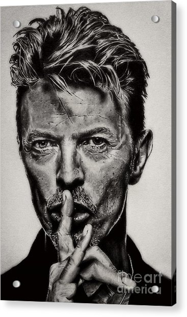 David Bowie - Pencil Abstract Acrylic Print