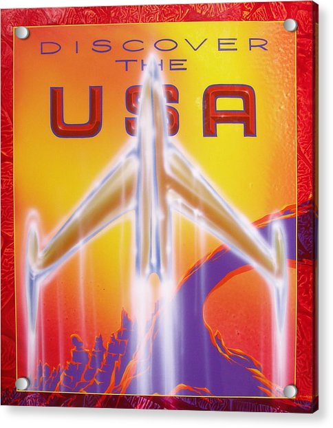 Discover The Usa Acrylic Print