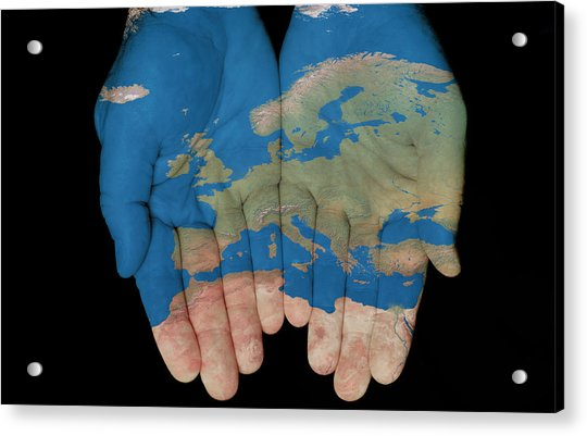 Europe In Our Hands Acrylic Print