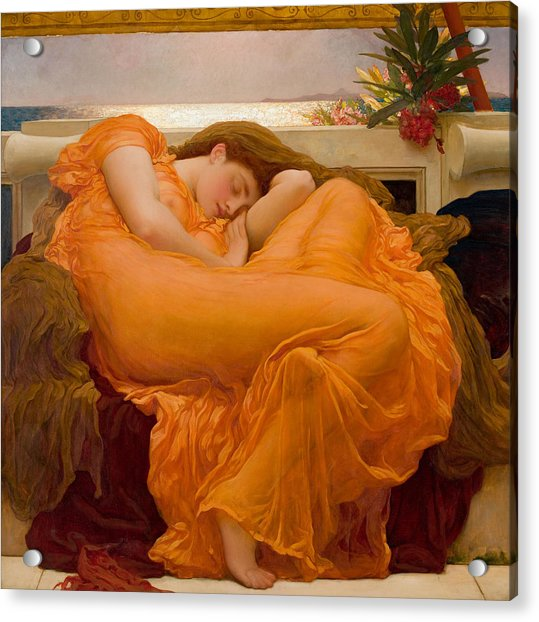 Flaming June Acrylic Print