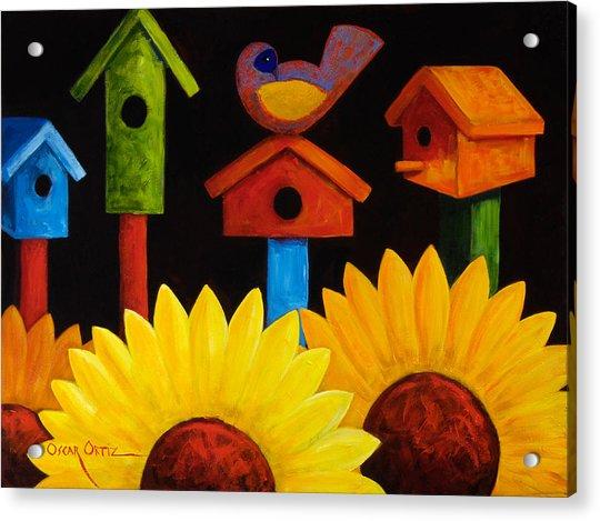 Midnight Garden Acrylic Print