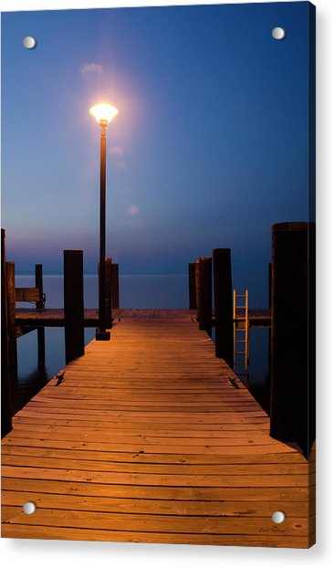 Morning On The Dock Acrylic Print