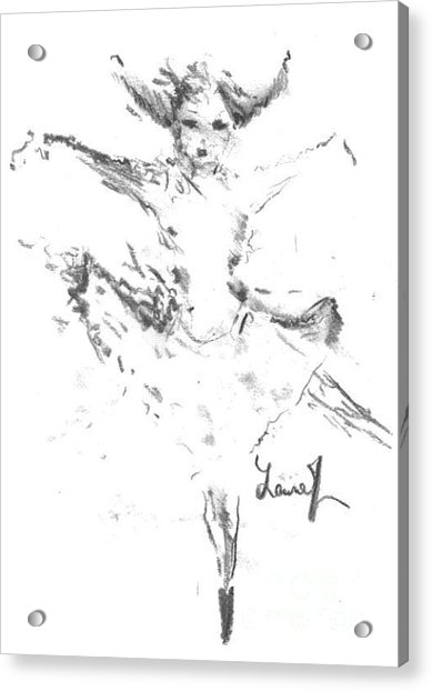 Acrylic Print featuring the drawing Movement Of Dance by Laurie Lundquist