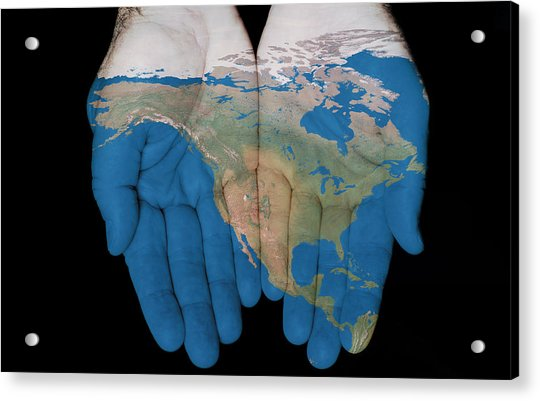 North America In Our Hands Acrylic Print