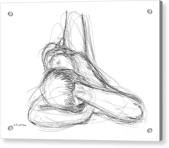 Nude Male Sketches 2 Acrylic Print