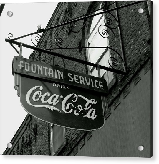 Old Sign Acrylic Print