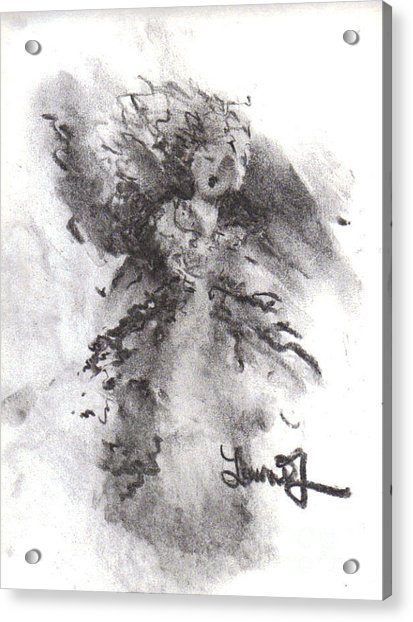 Acrylic Print featuring the drawing Rapture Of Peace by Laurie Lundquist