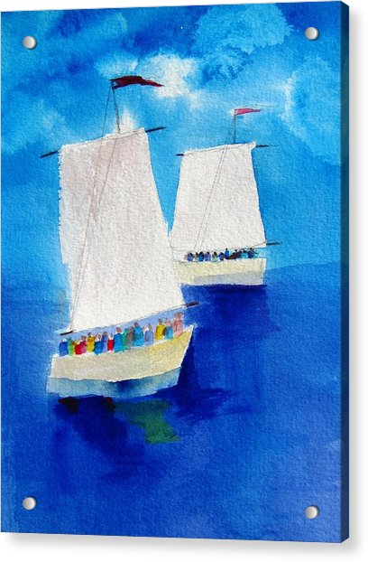 2 Sailboats Acrylic Print