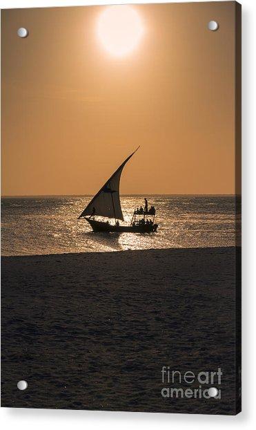 Sunset In Zanzibar Acrylic Print by Pier Giorgio Mariani