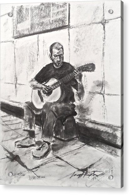 The Acoustic Man Acrylic Print