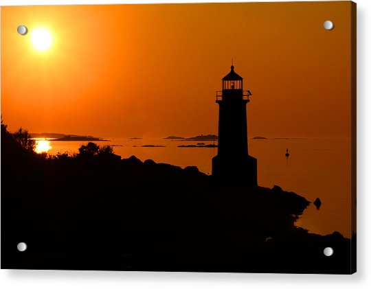 Acrylic Print featuring the photograph Winter Island Lighthouse Sunrise by Jemmy Archer