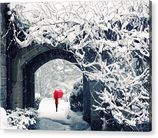 Winter's Lace Acrylic Print