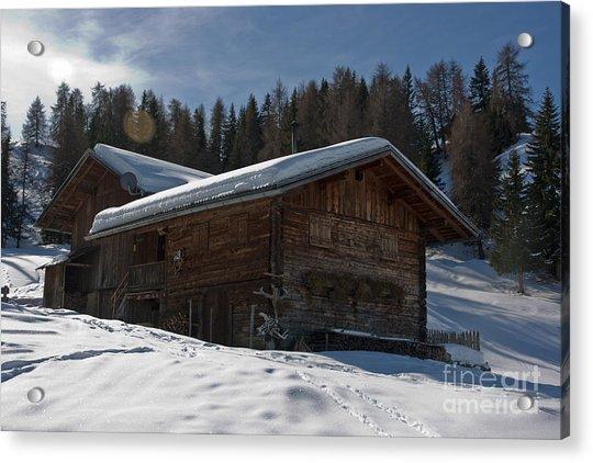 Chalet's Mountain Acrylic Print by Pier Giorgio Mariani