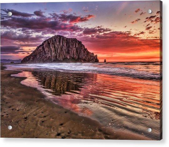 Crimson Sunset Acrylic Print