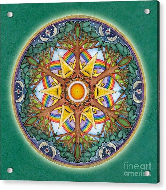 Heaven And Earth Mandala Acrylic Print