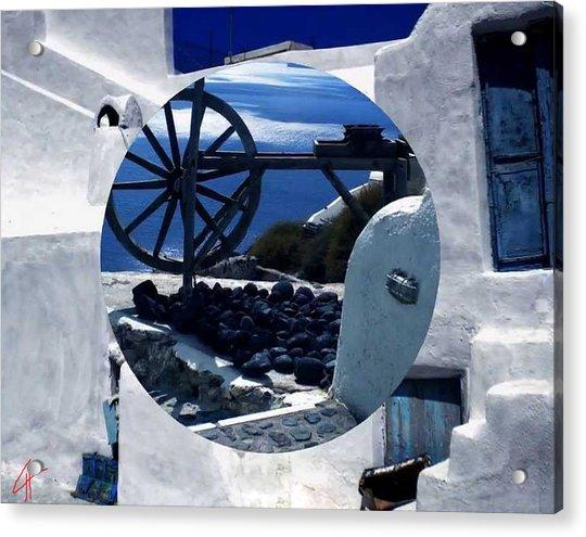 Acrylic Print featuring the photograph Santorini Island Greece by Colette V Hera  Guggenheim