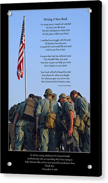 Acrylic Print featuring the photograph Veterans Remember by Carolyn Marshall