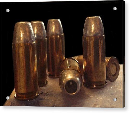 Bullet Art 32 Caliber Bullets 3514 Acrylic Print