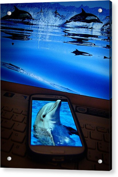 3d Phone... Acrylic Print
