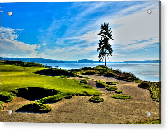 #15 At Chambers Bay Golf Course - Location Of The 2015 U.s. Open Tournament Acrylic Print