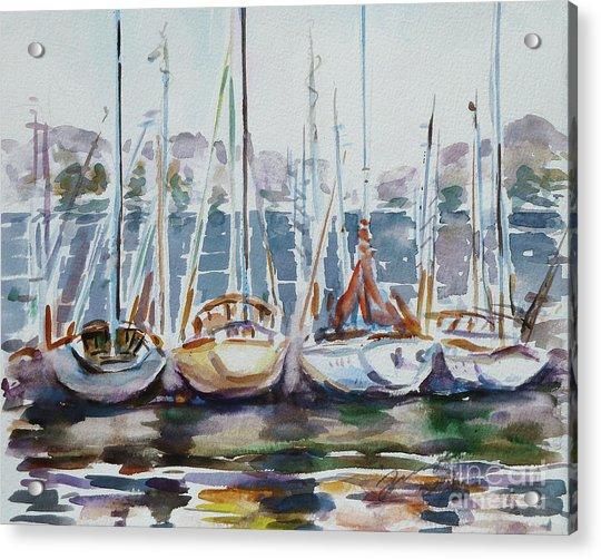 4 Boats Acrylic Print