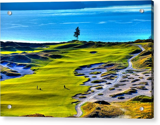 #5 At Chambers Bay Golf Course - Location Of The 2015 U.s. Open Tournament Acrylic Print