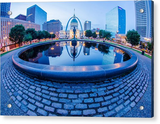 St. Louis Downtown Skyline Buildings At Night Acrylic Print